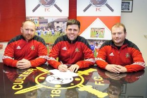 Culter's new manager Lee Youngson and his assistants