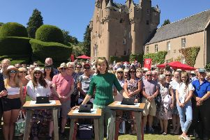 The Antiques Roadshow with Fiona Bruce filmed at Crathes in July