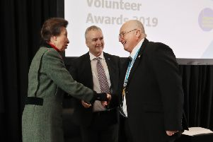 Thomas Saveall won the Project Spotlight Volunteer award at the Citizens Advice Scotland conference. He was presented with a silver Quaich by HRH Princess Anne. Picture - Stewart Attwood''''All images � Stewart Attwood Photography 2019.  All other rights are reserved. Use in any other context is expressly prohibited without prior permission. No Syndication Permitted.