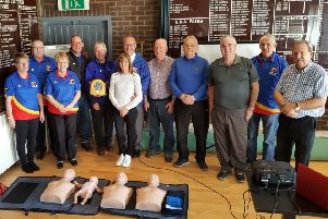 Newbattle Bowling Club member volunteers who underwent the defibrillator training.
