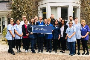 Hawkhill House staff celebrate the report  by the Care Inspectorate