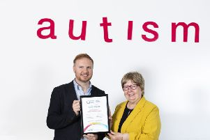 (L to R) Nick Ward, Director of the National Autistic Society Scotland and Marion Fellows MP.