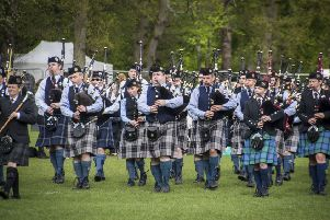 Pipe bands travelled from a wide area to take part in the championships in Banchory