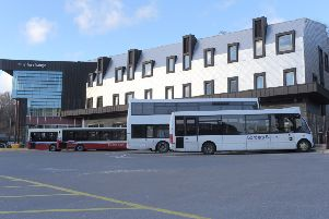 Galashiels transport interchange.
