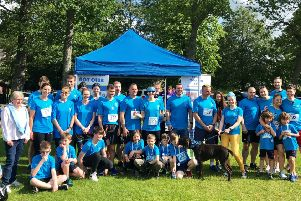 Team FMN who took part in Run Banchory in support of the dementia charity