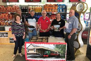 Dozens of people stopped to speak to volunteers at the Alford Railway fundraising event
