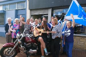 Supporters at the launch of the new YES Hub in Cardenden