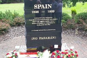 Spanish Civil War Memorial in Duchess of Hamilton Park