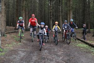 Opening of bike trails on Kinneil Estate, Bo'ness on Saturday, July 20. Pictures by Jamie Forbes.