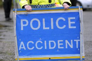 A crash on the B712 this morning has left debris on the road