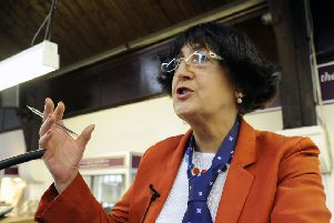 Telly star Anita Manning - not averse to wearing a bunnet herself - will be speaking and conducting the Hatfest auction at the Haining.