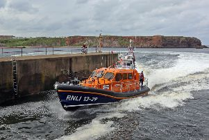 The new Eyemouth lifeboat, the  Helen Hastings