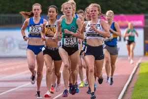 Jenny Selman (second from the left) claimed a silver in the 1500m. Picture by Bobby Gavin.