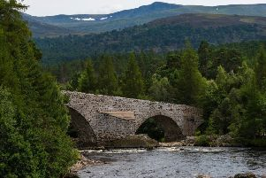 Invercauld Bridge will remain open to two-way traffic for the Braemar Gathering. Picture: Aberdeenshire Council