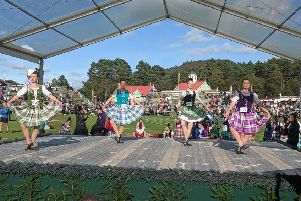 Highland dancers go through their paces in a busy competition. Picture: Braemar Gathering and Highland Games Centre