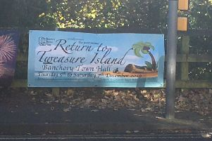 The banner has been removed from a prominent position at the Raemoir Road junction