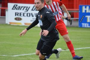 Liam McGonigle hit a double in Rossvale's win over Irvine Meadow. (archive pic: HT Photography/@dibsy_)