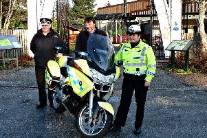 The motorcycle will join an ex-Grampian Police car at the museum