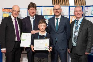 Ethan Robertson  at the Scottish Parliament ceremony