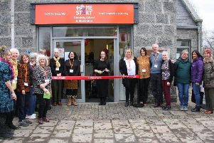 The opening of Home-Start Deeside's new charity shop in Alford