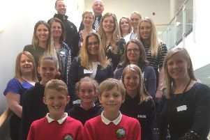 Pupils and volunteers who took part in the careers event