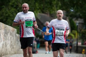 Alan Coull and Neil Skene on the Brig o' Balgownie Run