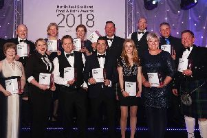 Winners at this year's North East Scotland Food & Drink Awards. Now the organisers are looking for entries for the 2019 awards.