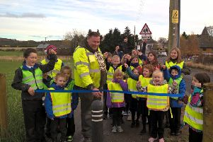 The new path at Logie Coldstone is officially opened