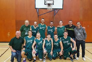 The Banchory Stags team who won through to the semi-finals of the Scottish Chairman's Cup by beating Phantoms in Dundee