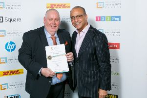 Alister Clark with Theo Paphitis earlier this year