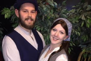 Katie and Ian Baxter are getting married all over again in their roles as 'Tzeitel and Motel in Fiddler on the Roof at His Majesty's Theatre.