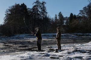 The rods were out on the opening of the Dee salmon season. Picture: Steven Rennie