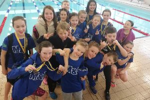 Swimmers from Milngavie & Bearsden ASC who helped the club win the team prize at the Grangemouth Junior Age Group meet