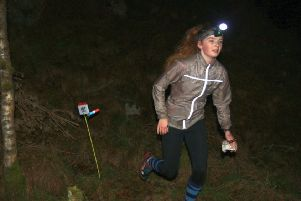 Mar junior Amber Graham is pictured competing in the Deeside Night Cup. Picture: Alan Bennett