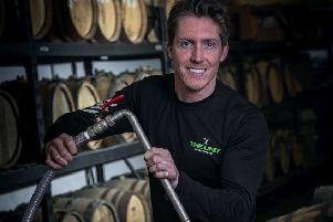 Ben Kilner fills his whisky cask at Deeside Distillery