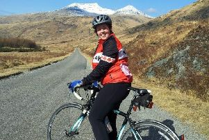 Clare Tayler gets in some training for Etape Loch Ness