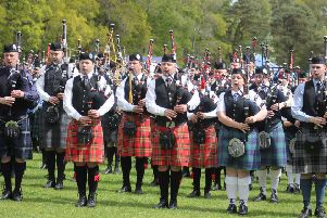 The event attracts pipe bands from across Scotland