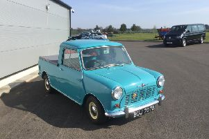 The restored Morris Mini 850 pick-up truck which achieved the top selling price
