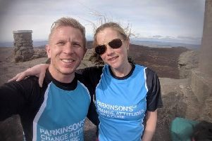 Andy and Caroline Cowie training for their Kilimanjaro trek