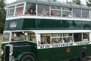 The vintage buses swill be on display at Alford on July 7