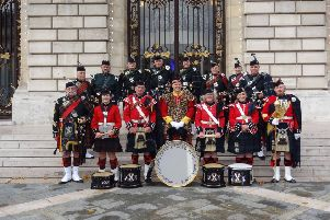 The Somme Battlefield Pipe Band who will perform at next month's Aboyne Highland Games