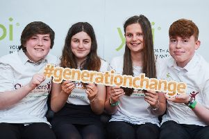 Banchory pupils who represented their school at the national YPI event