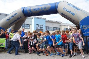 They're off - the start of a previous school fun run