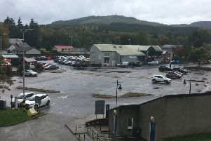Empty spaces in Banchory's Bellfield car park on a recent Saturday afternoon