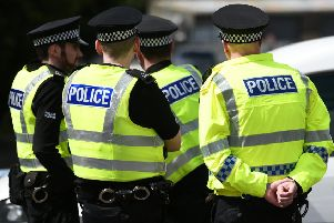 Police took part in the 'day of action'.