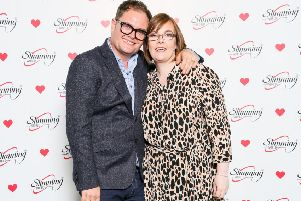 Lorna Younge with Alan Carr at the annual Slimming World awards