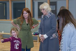 The Duchess of Rothesay tours the new sports village. Picture: Aberdeenshire Council