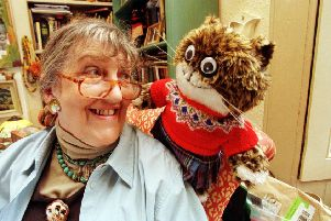 Aileen Paterson with Maisie the cat