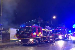 Fire crews rushed to the scene of the blaze on Dalry Road. Picture: Valantis Gasparis