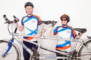 Nik Olliver and Richard Newton are preparing to tandem cycle 2000km from Edinburgh to Budapest
